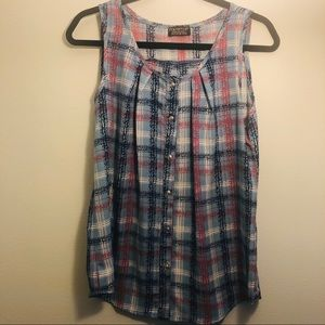 PAPERMOON BY STITCHFIX SLEEVELESS BLOUSE
